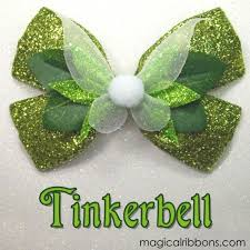 tinkerbell ribbon tinkerbell bow pinteres