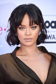 rihanna short hair see her cute new bangs and bob glamour