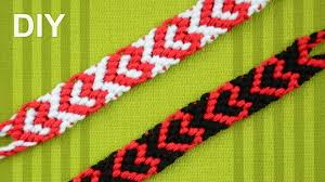 friendship bracelet heart pattern images Heart friendship bracelet for valentines day diy tutorial jpg