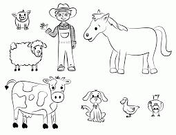 farm coloring pages for preschool coloring home
