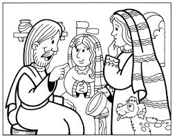 coloring mary and martha coloring page free printable mary and