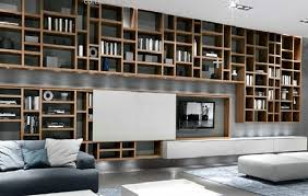 Bookcase System Modern Crossing Hanging Bookcases Design With Lcd Rack For Reading