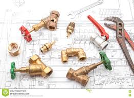 plan plumber and wrench stock photo image 75091908