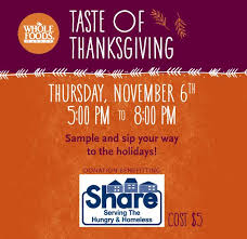 daily insider taste of thanksgiving to benefit at whole