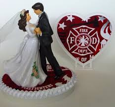 fireman cake topper wedding cake topper firefighter fireman department themed