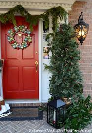 decorating the porch for porch topiary