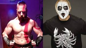 sheamus shows off his kratos costume tyler breeze transforms into