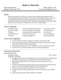 Maintenance Foreman Resume Bold Inspiration Production Supervisor Resume 4 Supervisor Resume