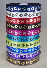 paw print ribbon paw print ribbon 25mm