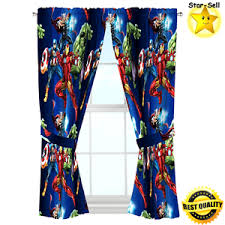 boys bedroom curtains marvel avengers curtain panel pair tiebacks set kids boys bedroom
