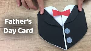 how to make tuxedo father u0027s day gift card simple and quick to