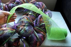 wide mesh ribbon deco mesh wreath tutorial big s