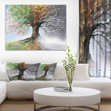Four Seasons Furniture Replacement Slipcovers Tree With Four Seasons Tree Painting Canvas Art Print Free