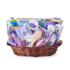 beauty gift baskets the essence of lavender spa gift basket walmart