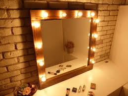 Mirror With Light Ideal Application On Vanity Mirror With Light Bulbs The