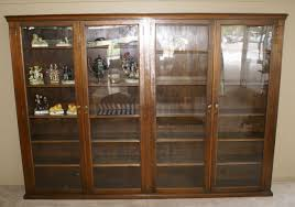 1920 S China Cabinet by Large Oversized Glass 4 Door 1920s Bookcase