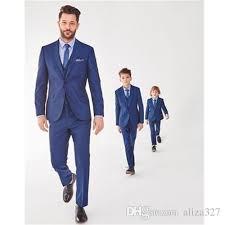 boys light blue dress pants royal blue flower boy wedding suits slim formal kids suits page boy