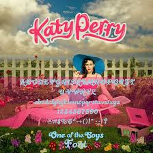 katy perry one of the boys font by joseselenator on deviantart