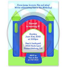bounce house boy invitation