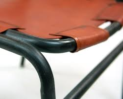 Orange Leather Chair Trendy Dining Chairs Leather Orange U0026 Brown Industrial Seating