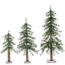 sterling 7 5 ft pre lit mixed needle glazier pine artificial