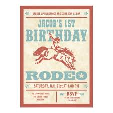 personalized western rodeo cowboy party invitations