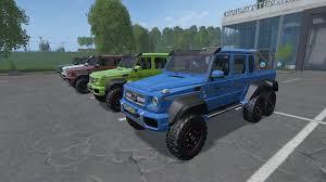 mercedes g63 amg suv 6x6 mercedes g63 amg 6x6 car v2 0 farming simulator 2017 2015