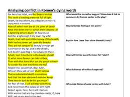 romeo and juliet gcse 1 9 85 worksheets and resources by