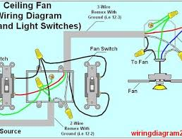 awesome ceiling fan wiring diagram power into light dual switch