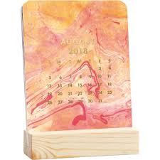 2018 easel desk calendar marbled easel 2018 desk calendar 842612070091 calendars com