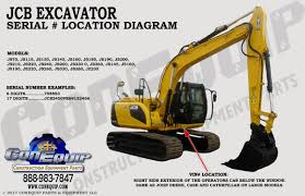 serial number location for your jcb excavator