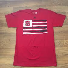 North Carolina Flag North Carolina State Wolfpack Red Adidas Baseball Flag T Shirt