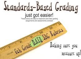 6th grade math common core standards based grading rubrics