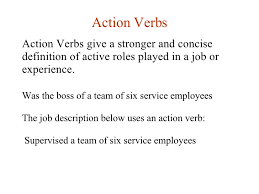 Verbs For A Resume Lesson 10 Writing A Resume