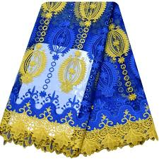 Lace Fabric For Curtains Aliexpress Com Buy Royal Blue Yellow African Cord Lace Guipure