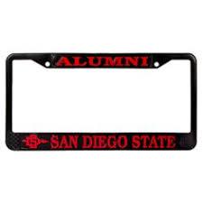 sdsu alumni license plate chrome license plate frame featuring sdsu alumni 31 95 aztec