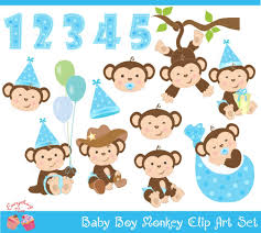 monkey baby shower clip art 72