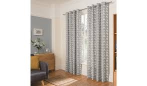 george home grey smudgy geo print curtains home u0026 garden