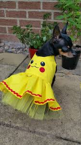 Halloween Costumes Yorkies Dogs Small Dog Pokemons Dress Clothes Pikachu Costume Halloween