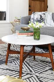 mid century marble coffee table daily find west elm reeve mid century coffee table copycatchic