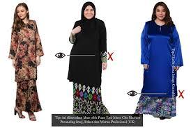 baju kurung moden zaman sekarang pilihan baju kurung mengikut bentuk badan emi idura che hashim