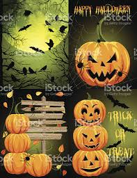 creepy halloween background creepy halloween background template set green stock vector art