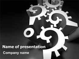 mechanical question marks powerpoint template backgrounds 07112