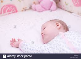 Baby Sleeping In A Crib by Cute Baby Sleeping In Her Crib Stock Photo Royalty Free