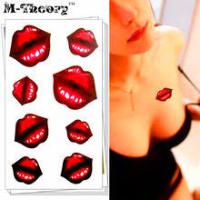 online get cheap tattoo kissing lips aliexpress com alibaba group