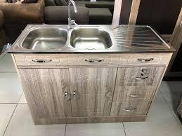 kitchen sink and cabinet unit sink unit lightwood
