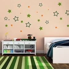 interior home decoration ideas using blank wall decoration with home decoration ideas using blank wall decoration with colorful stars and dots stickers for bedroom