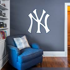 new york yankees logo wall decal shop fathead for new york