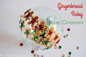gingerbread christmas ornament preschool inspirations