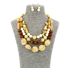 beaded statement necklace images Fashion jewellery long resin stone beaded statement necklace and JPG